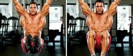 Повдигане на краката от вис (Hanging knee raise)